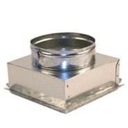 "8"" x 8"" Ceiling Box, w/ 6"" Round Collar"
