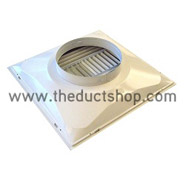 "Supply Air Diffuser, 24"" x 24"" x 6"" Round"