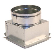 "6"" x 6"" Ceiling Box, w/ 6"" Round Collar"